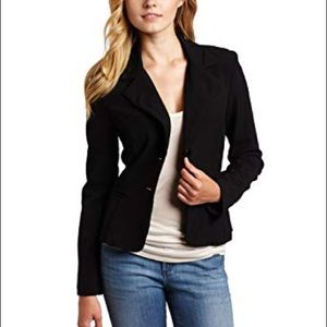 NWT A. Byer black two button fitted blazer, M